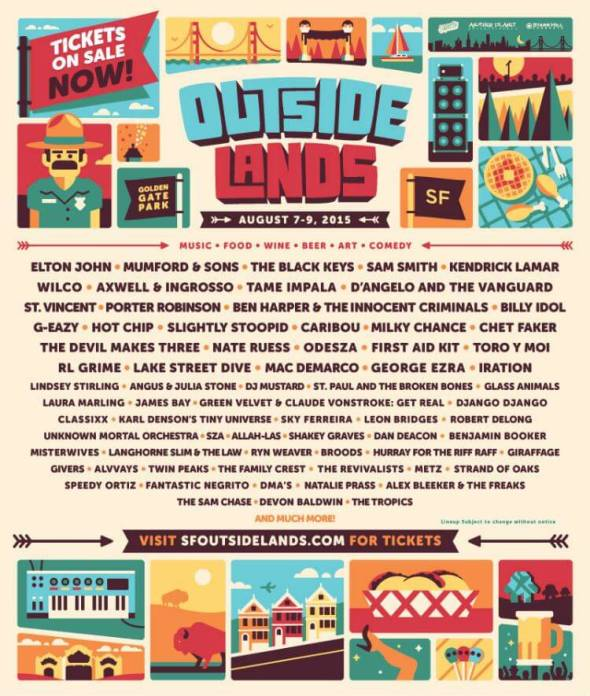 2015 Outside Lands lineup