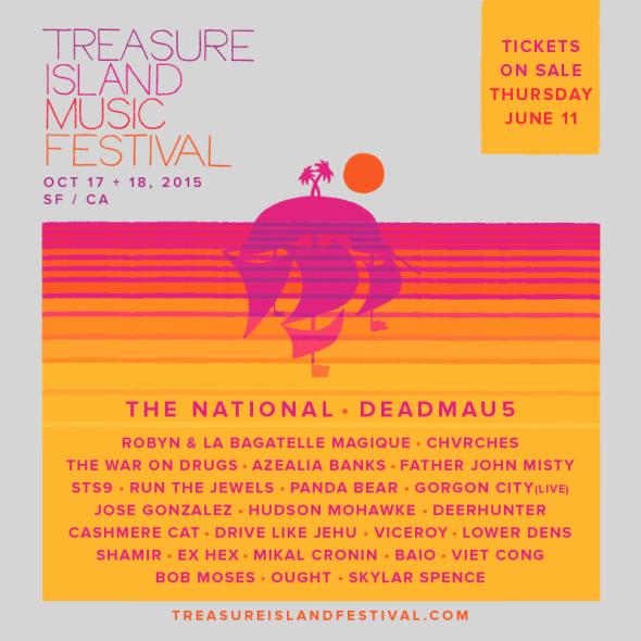 2015 Treasure Island lineup