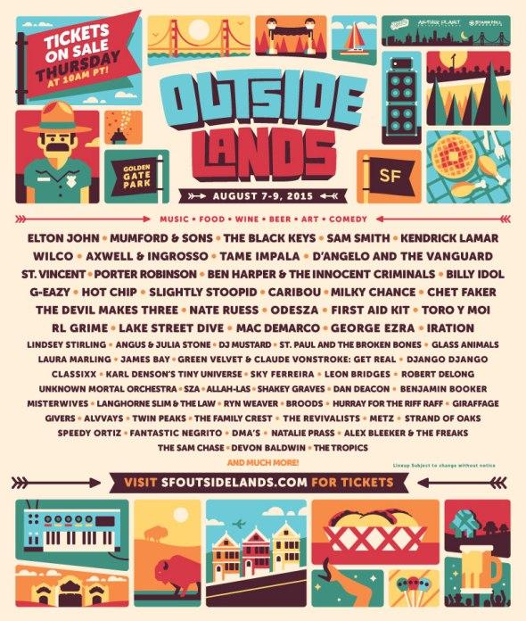 Outside Lands 2015 lineup