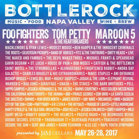 BottleRock Napa Valley - 2017 lineup