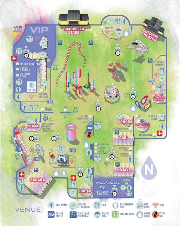 Coachella - 2019 map