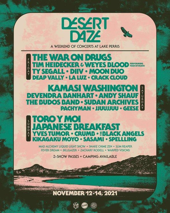 Desert Daze - 2021 lineup