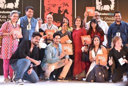 The team of Kala Ghoda and Siddharth Malhotra for the book launch of Kala Ghoda Celebrating Mumbai's Art District