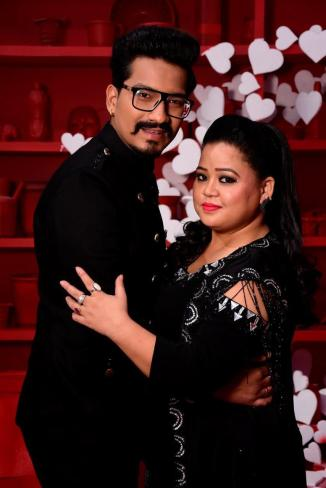 Bharti Singh and fiance Harsh at the opening episode of Nach Baliye Season 8