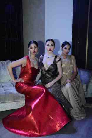 Models wearing the Red Carpet Collection by Tanishq