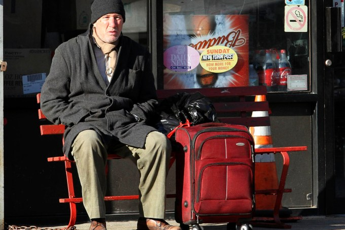 """Richard Gere was spotted shooting a scene for """"Time Out Of Mind"""" in Woodside, Queens."""