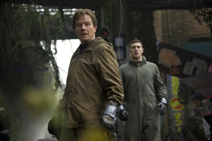 Bryan Cranston and Aaron-Taylor Johnson in 'Godzilla'