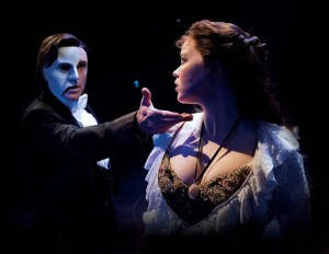 Earl Carpenter and Katie Hall in The Phantom of the Opera - UK Tour. Photo by Alastair Muir
