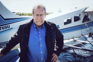 Peter Greenberg at Lake Hood Seaplane Base, Anchorage - credit Courtney Crockett