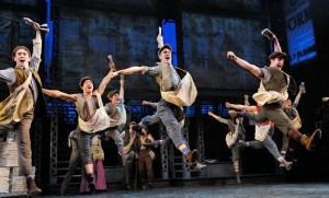 Broadway company of NEWSIES. Photo by Deen Van Meer.