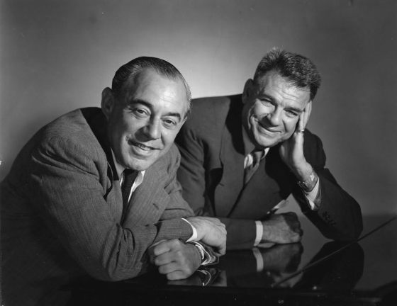 (left to right) composer Richard Rodgers and lyricist Oscar Hammerstein II.  Photo courtesy of The Rodgers & Hammerstein Organization.