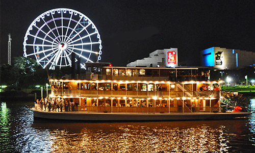 Brisbane City lights from the river, Showboat Cruises