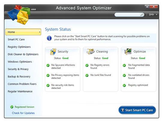 Advanced System Optimizer 3.9.3700.18392 Crack + Serial Key Free