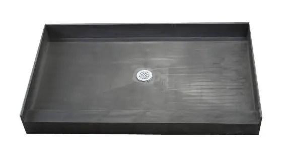 PVC Single Curb Shower Pan