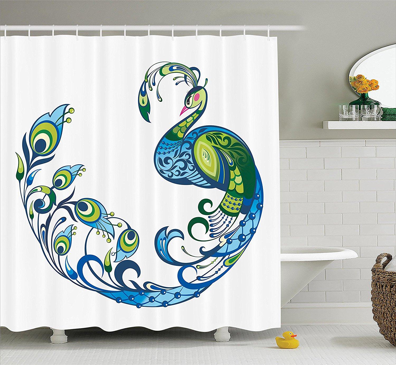custom bath curtain elegant vintage peacock art bathroom shower curtain 60x72 bathroom supplies accessories shower curtains