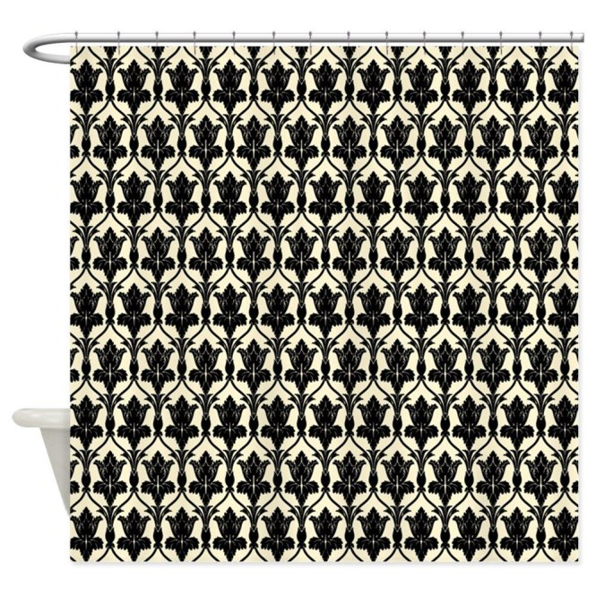 Awesome Sherlock Wallpaper Shower Curtain