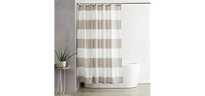 amazonbasics hooked shower curtains for small bathrooms