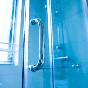 modern glass shower handle