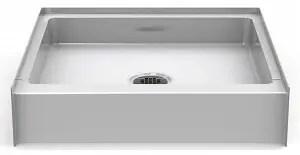 Bestbath 30″ x 30″ Step-in Shower Base/Pan - 6″ Curb Height - Center Drain - White