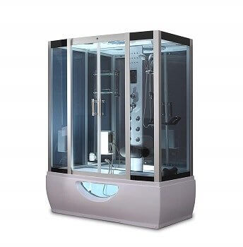 """OB 58"""" x 33"""" Soaking Base Steam Shower Enclosure With Everything you need"""