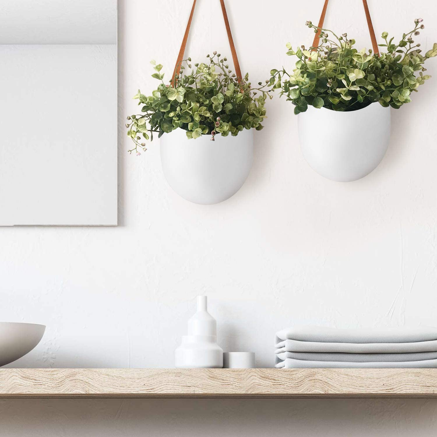 Best Planters To Hang Plants From Your Bathroom Wall