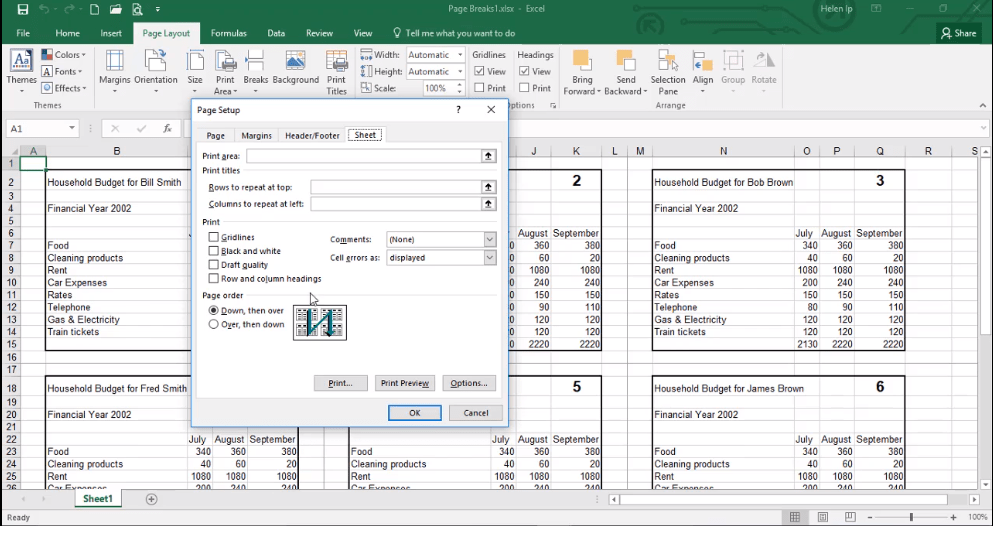 ADMNEXC304107 Excel Training - Learn to Change Sheet Setup