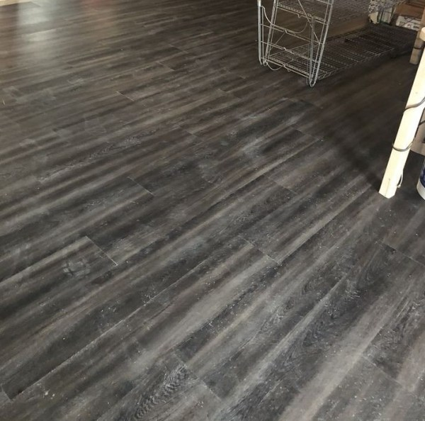 vinyl plank flooring varying grey colors