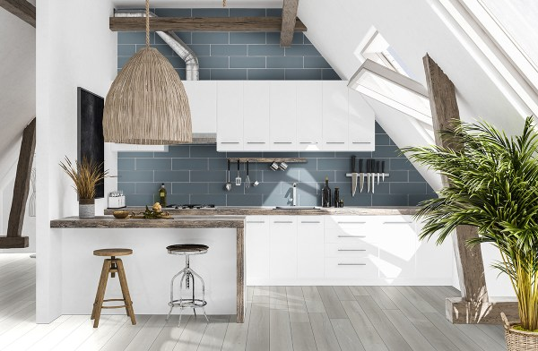 Kitchen featuring Andover white luxury vinyl