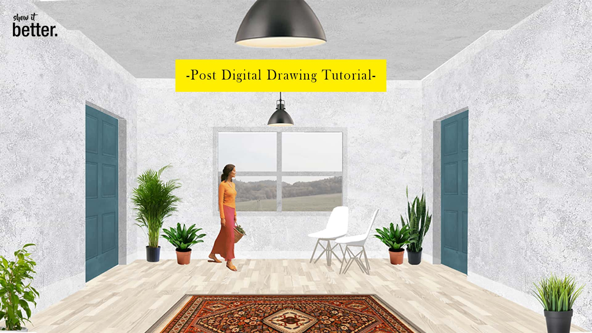 Post Digital Interior Architecture Drawing Tutorial