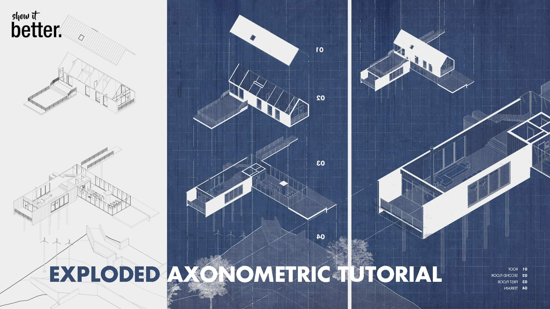 Exploded Axonometric Tutorial