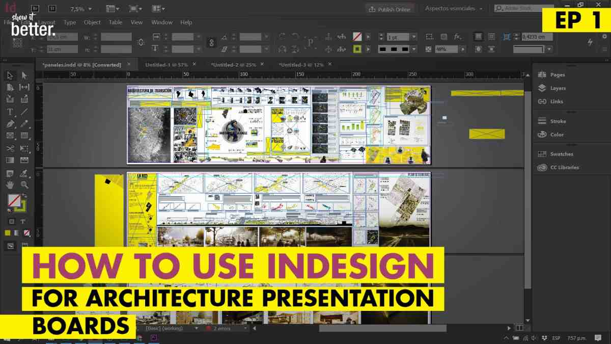 InDesign for your Architecture Presentation Boards