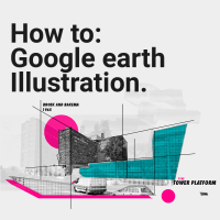 How to: Google Earth Collage Illustration