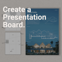 How to create a presentation board in InDesign main image style