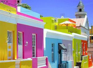 Cape Malay Cottages in Bo Kaap in Cape Town