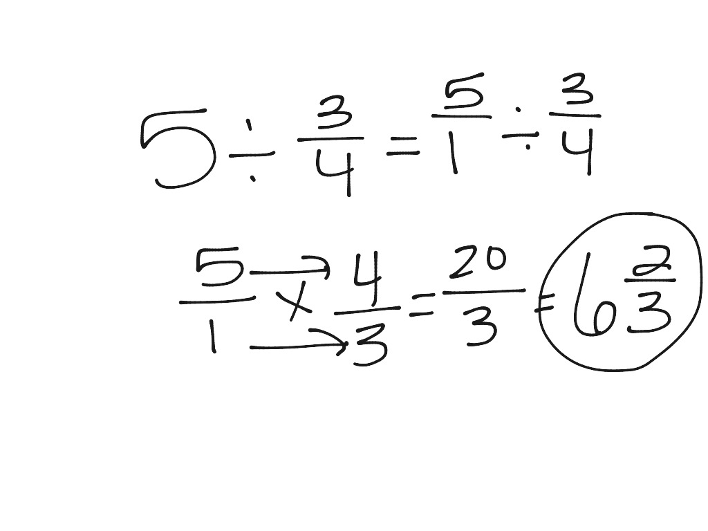 Home School Math How To Divide Fractions With A Whole Number