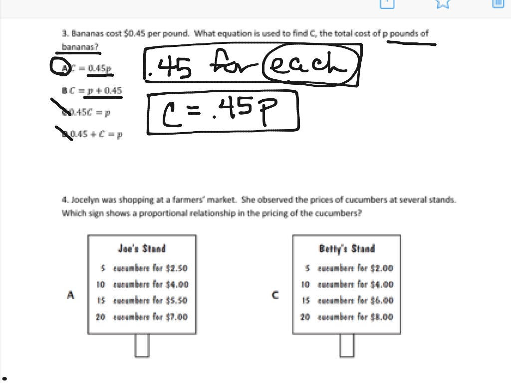 Ratio And Proportions Test 3