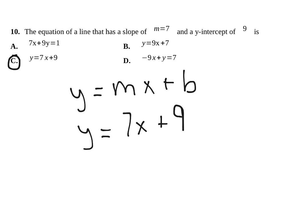 Quiz 54 Standard Form