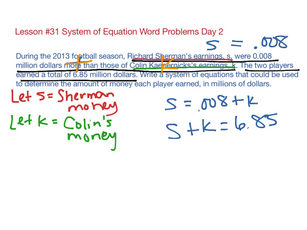 Worksheet Solving Systems By Substitution Day 2