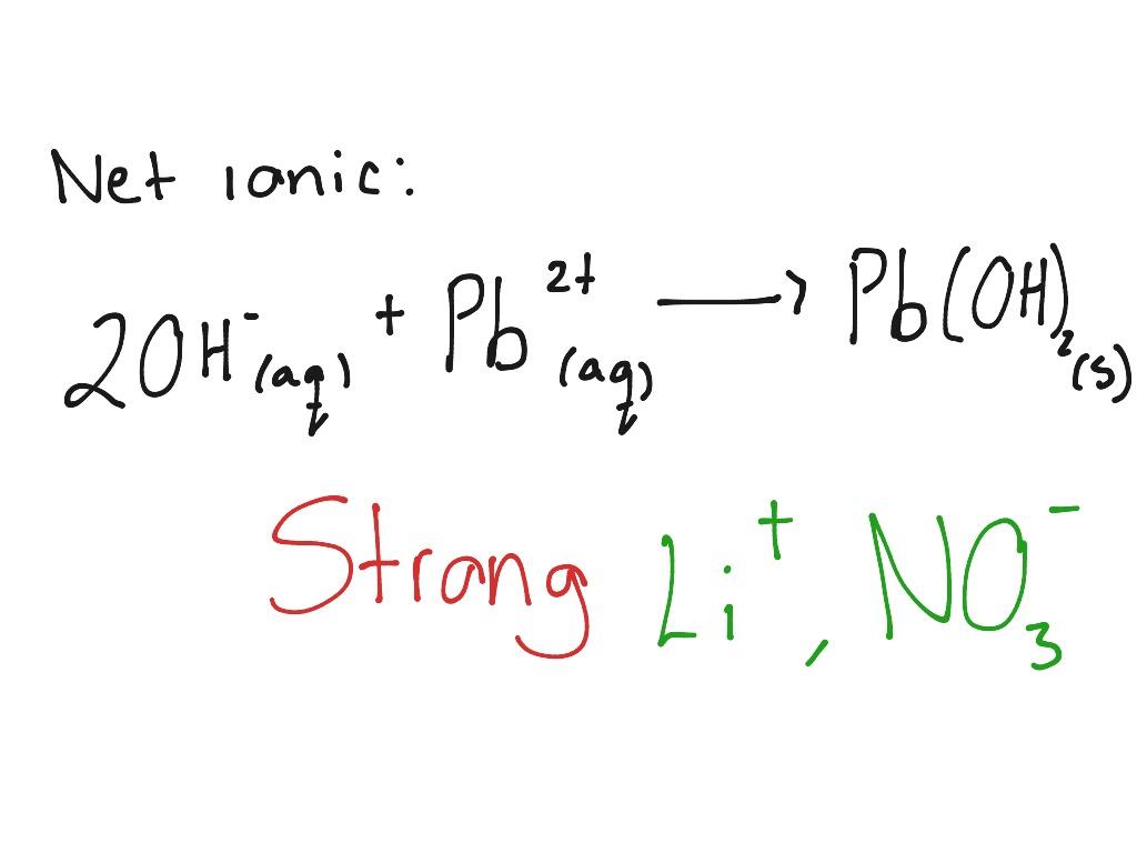 Lithium Hydroxide And Lead Ii Nitrate