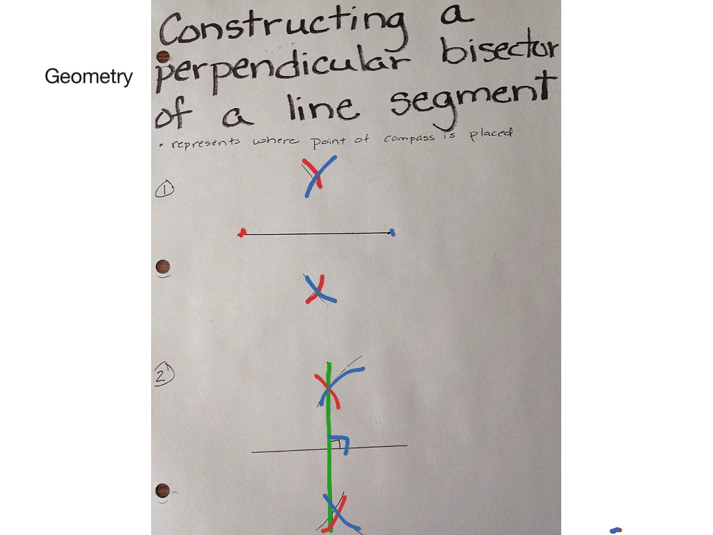 Geometry Constructing The Perpendicular Bisector Of A Line