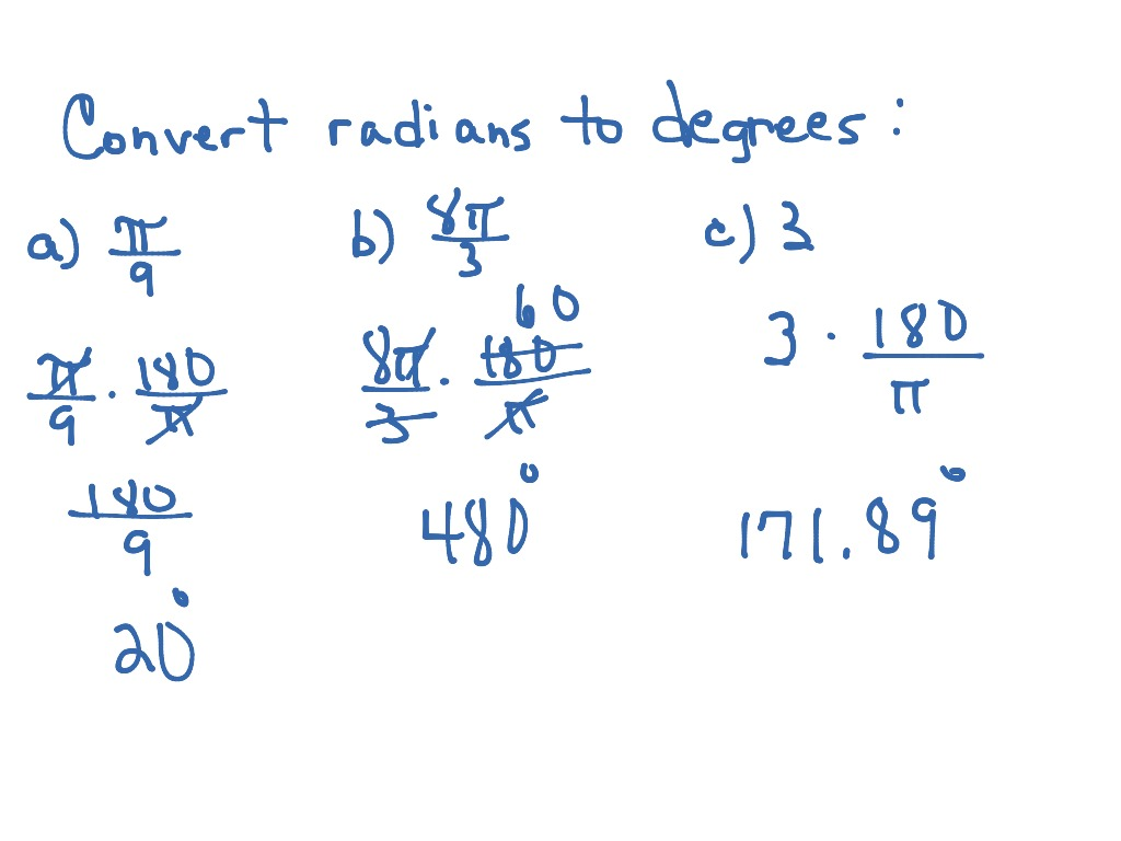 Radians To Degrees