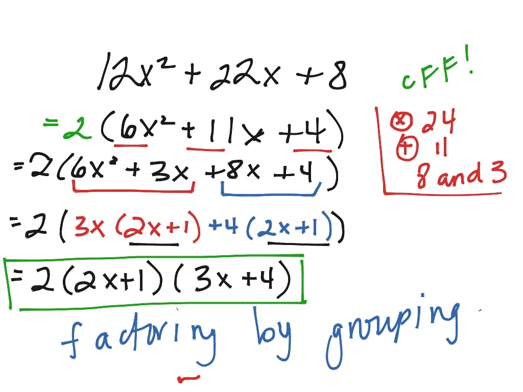 Different Methods Of Factoring