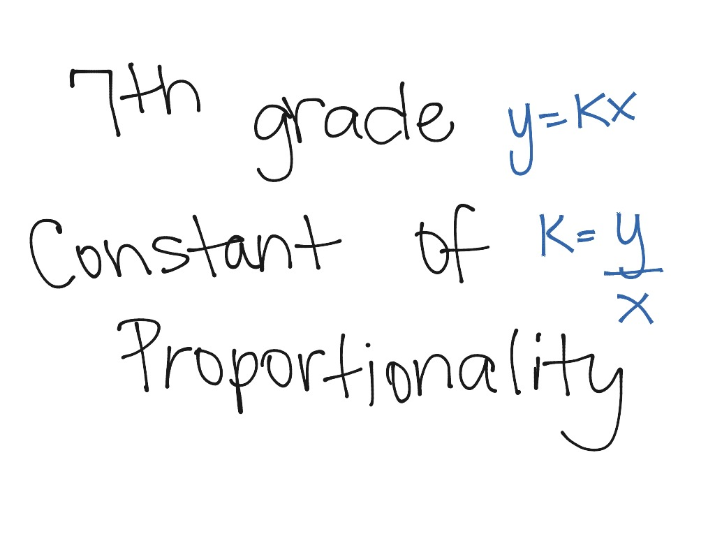 7th Grade Constant Of Proportionality