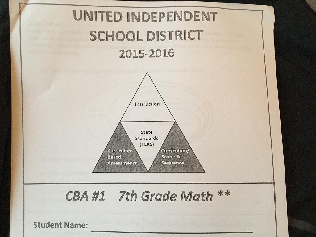 Cba 1 7th Grade Math A Pina