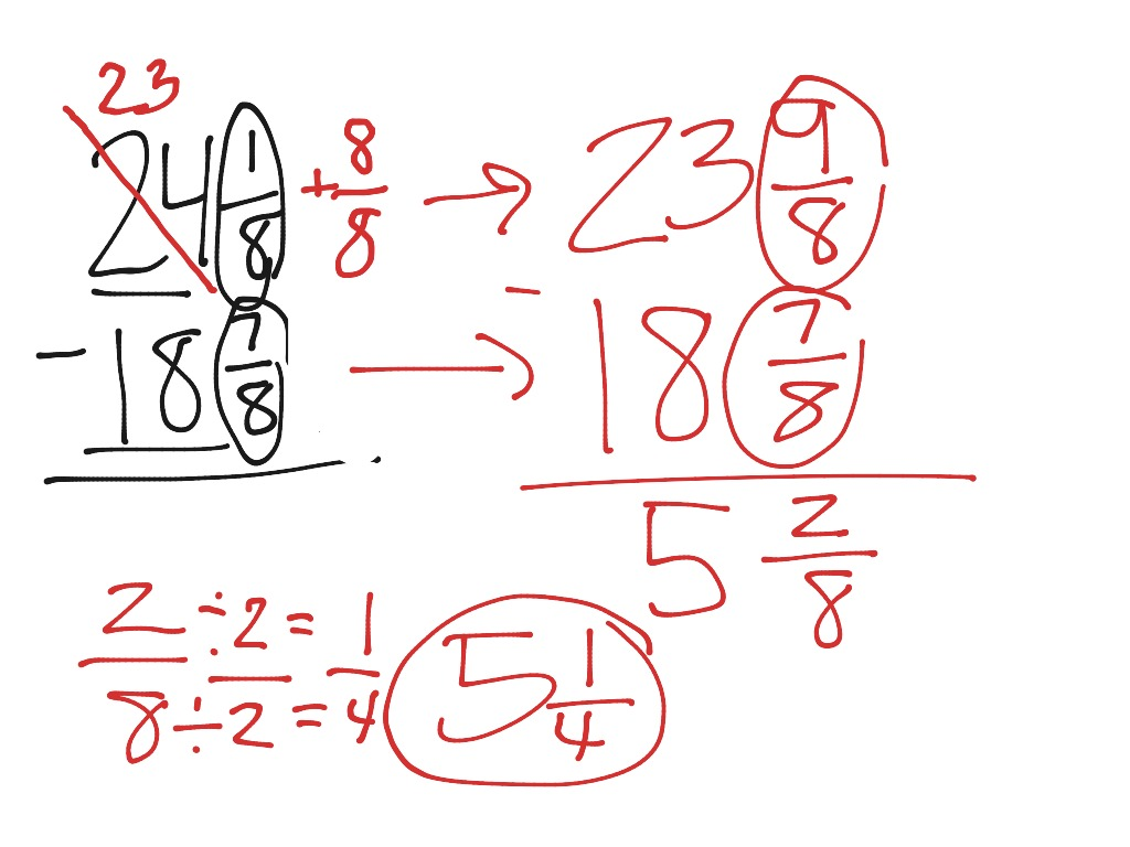 Regrouping With Mixed Numbers