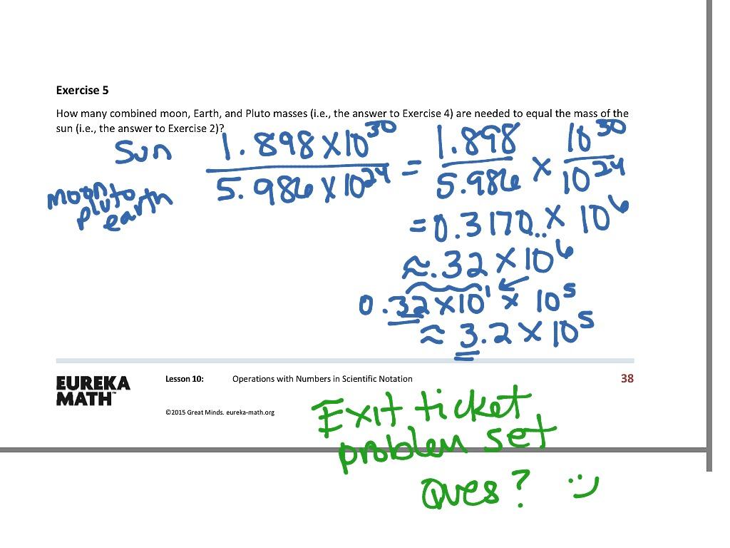 Grade 8 Math Scientific Notation Worksheet