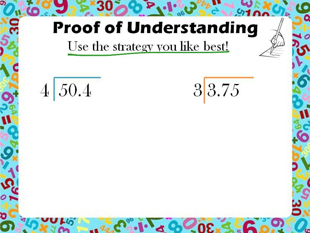 Dividing Decimals By Whole Numbers Nbt 7
