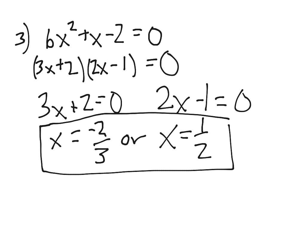 Solve Quadratics By Factoring