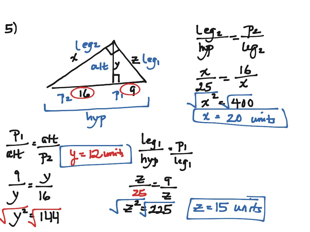 Worksheets Similarity In Right Triangles Worksheet