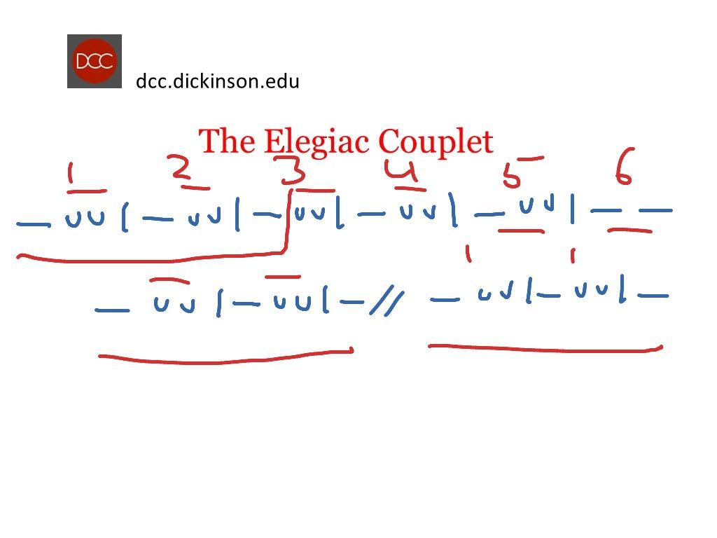Elegiac Couplet 1